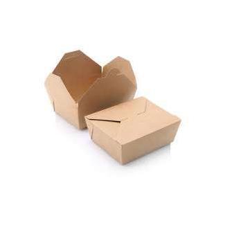 Contenitore box rettangolare in carta kraft biocompostabile