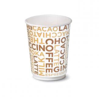 """Bicchiere in cartoncino per bevande calde e fredde con grafica generica """"Coffee White"""""""