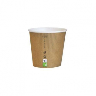 Bicchiere caffè kraft avana 90cc biodegradabile confezione da 50 pezzi
