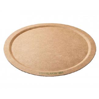 Piatto pizza in cartone avana  diametro 32 cm in confezione da 100 pezzi
