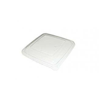 Coperchio biodegradabile in polpa di cellulosa per piatto fondo quadrato da 750 o 1000 ml confezione da 50 pezzi