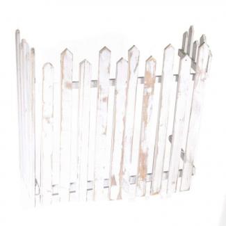 Steccato in legno sbiancato cm 120 x 2.5 h 60