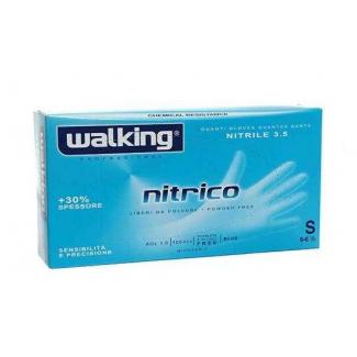 Guanto nitrile azzurro libero da polvere 3.5gr., confezione da 100 pezzi