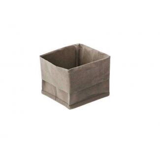 Contenitore quadrato porta pane in carta lavabile verde oliva