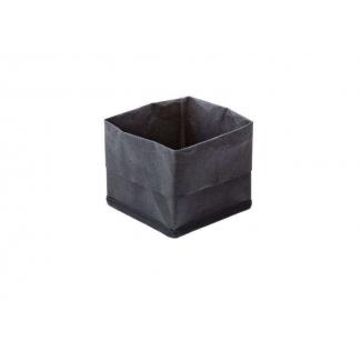 Contenitore quadrato porta pane in carta lavabile nero