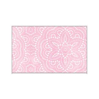 Tovaglia in tessuto non tessuto (TNT), base rosa con fantasia geometrica bianca, confezionata in rotolo da 1.60x10mt.