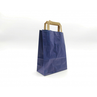 Shopper sealing millerighe blu con maniglia piatta