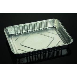 Vaschetta alluminio da 4 porzioni, base rettangolare, confezione da 100 pezzi