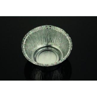 """Vaschetta alluminio rotonda """"crème caramel"""", diametro 88mm h.38mm, confezione da 100 pezzi"""