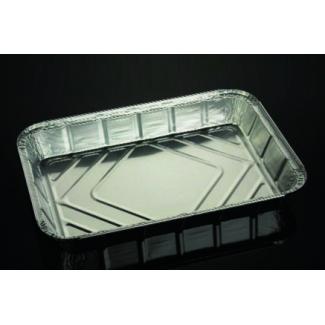 Vaschetta alluminio da 6 porzioni, base rettangolare, con predisposizione chiusura coperchio cartoncino alluminato confezione da 100 pezzi