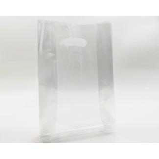 Sacchetto in plastica politene trasparente LDPE a fondo piatto, confezione da 5 kg.