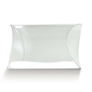 Scatola astuccio trasparente per confetti con chiusure laterali, confezione da 10 pezzi