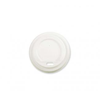 Coperchio CPLA per bicchiere 120cc cartoncino bianco confezione da 50 pezzi