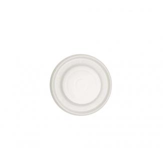 Coperchio CPLA biodegradabile per bicchiere in cartoncino bianco da 80cc confezione da 50 pezzi
