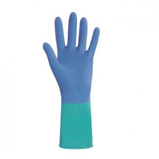 Guanto lattice felpato azzurro multiuso, taglia XL, confezione da 2 pezzi