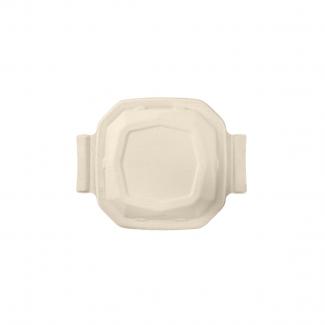 Coperchio biodegradabile in polpa di cellulosa per piatto ottagonale da 650 ml in confezione da 50 pezzi