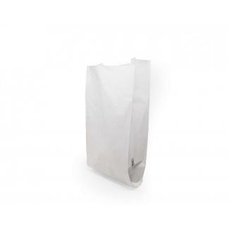 Mini sacchetto in carta kraft bianco 40gr. 8x18 cm, confezione da 10 kg.