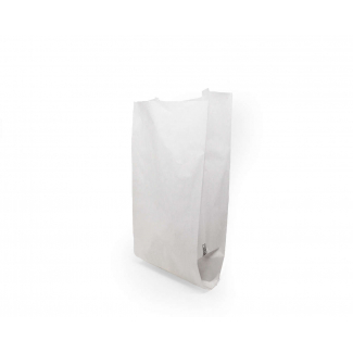 Sacchetti in carta kraft bianco 38 gr. in cartone dispenser da 1000 pezzi