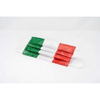 Mascherina in TNT per adulto con fantasia italia in confezione da 10 pezzi