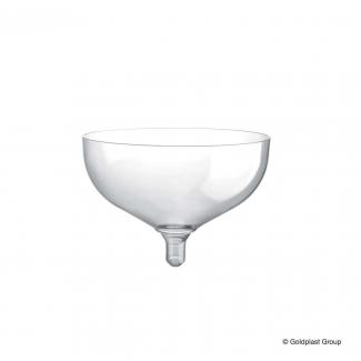 Bicchiere coppa tipo champagne in plastica PS trasparente 205cc confezione da 20 pezzi