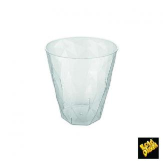 Bicchiere trasparente in PS effetto ghiacciato confezione da 20 pezzi