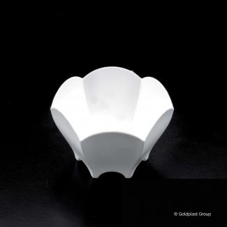 Coppetta fingerfood tulip bianca 70 cc, confezione da 25 pezzi