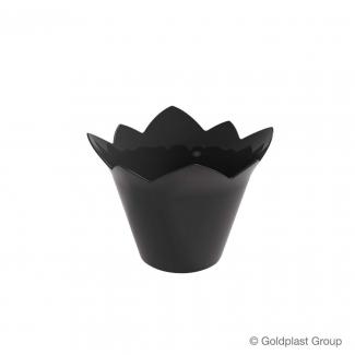 Coppetta ninfea fingerfood nera 70cc confezione da 25 pezzi