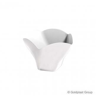 Coppetta rose design fingerfood bianca 90cc confezione da 25 pezzi