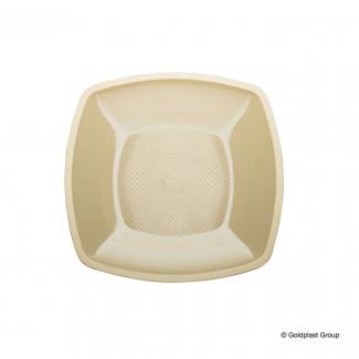 Piatto quadrato linea square in plastica PP champagne