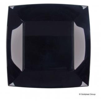 Piatto quadrato linea nice in plastica PP nero