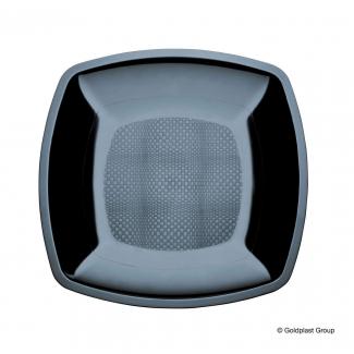 Piatto quadrato linea square in plastica PP nero