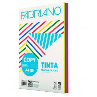 Risma di carta copytinta mixforti da 80 gr/mq, in formato A4, in confezione da 250 pezzi