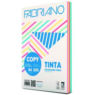 Risma di carta copytinta mixtenui da 200 gr/mq, in formato A4, in confezione da 100 pezzi