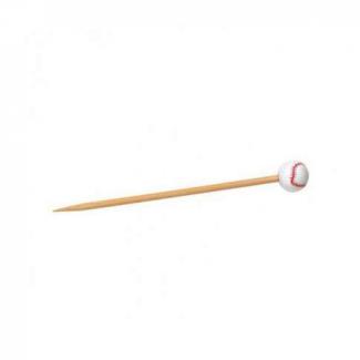 Stecchino in bamboo decorazione baseball 12cm confezione da 100 pezzi