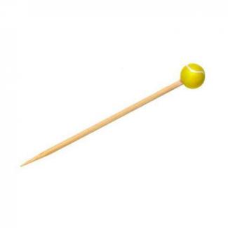 Stecchino in bamboo decorazione tennis 12cm confezione da 100 pezzi