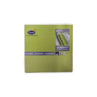 Tovagliolo tnt airlaid dunisoft verde erba 40x40 confezione da 60 pezzi
