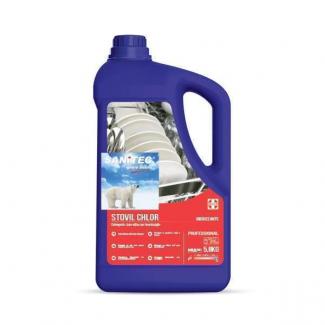 Detergente alcalino schiumogeno a base di cloro attivo in tanica da 5.8 kg