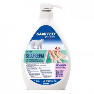 Sapone liquido sanificante con 2 antibatterici flacone da 1 litro con erogatore