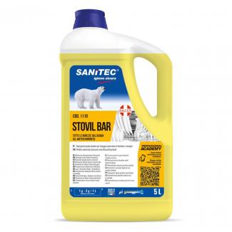 Detergente liquido alcalino con sistema igienizzante per lavaggio meccanico di bicchieri e stoviglie  per tutte le durezze dell'acqua in tanica da 6kg
