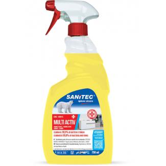 Disinfettante alcoolico multisuperficie effetto sgrassante con antibatterico profumazione limone con erogatore trigger 750ml