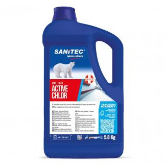 Detergente liquido igienizzante a base di cloro attivo non schiumogeno per il lavaggio di superfici dure in tanica da 5.8 kg