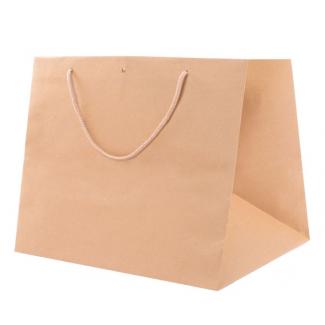 shopper kraft avana fondo largo con maniglia ritorta cm 41 + 28 x 30 confezione da 25 pezzi