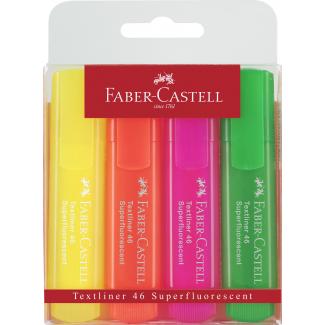 Evidenziatori superfluorescenti colori assortiti in confezione da 4 pezzi