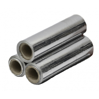 Tris rotoli alluminio senza box, 150 metri, cartone da 3 pezzi