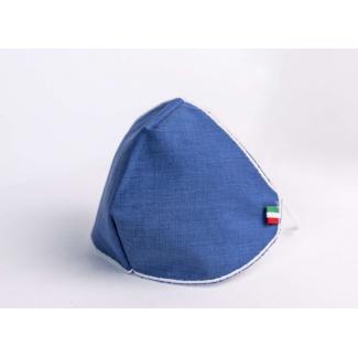 Mascherina regular effetto denim, filtrante e lavabile, in confezione da 1 pezzo