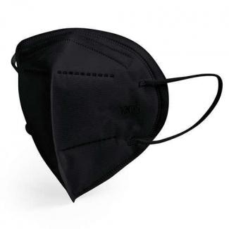 mascherina di protezione ffp2 nera imbustata singolarmente, in confezione da 25 pezzi