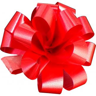 Coccarda laccio velox diamant rosso confezione da 30 pezzi