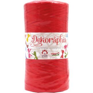 bobina nastro dekoraphia sintetica rosso 200 mt