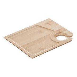 Piatto degustazione con portabicchiere in legno 18x15cm confezione da 6 pezzi