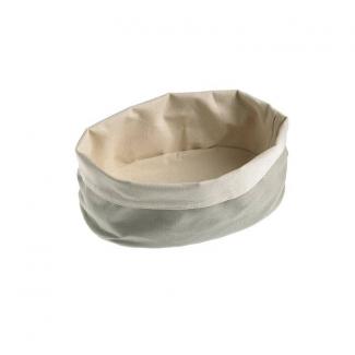 Contenitore ovale porta pane in cotone lavabile color sabbia